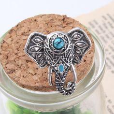 Bohemian Style Elephant Ring