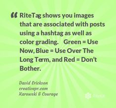 #RiteTag #️⃣ - #Hashtag Research & #Analytics [COOL TOOL] ~ @derickson / @karwoskicourage http://rite.ly/KnZK #smm #business #marketing