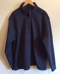 BEVERLY HILLS POLO CLUB Men Blue Crewneck Long Sleeves Casual Sweater Size XL #BeverlyHillsPoloClub #Crewneck