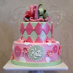 Girly Birthday Cake