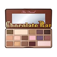 Chocolate Bar Eyeshadow Palette - Too Faced. This combines two of my favorite things - chocolate and eye shadows!