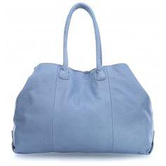 wardow.com - #blue #trend #bag #fashion #Liebeskind Vintage MillaE Shopper genarbtes Rindsleder blau