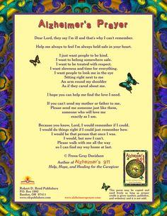 Alzheimers Prayer