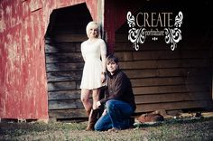 rustic engagement shooting in hayloft by claudia magas ...