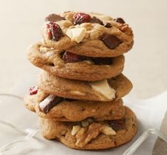 5 of the Healthiest Cookies You Can Buy Cranberry Recipes, Holiday Recipes, Cranberry Cookies, Fall Recipes, Yummy Recipes, Sweet Recipes, Delicious Desserts, Thanksgiving Desserts, Christmas Food Gifts