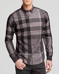 Burberry's signature take on plaid gives their Fred check button down shirt (available in five colors) an instantly recognizable style.: