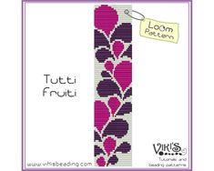 Pattern for Loom: Tutti Fruiti bracelet von VikisBeadingPatterns                                                                                                                                                                                 Mehr