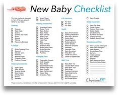 Free Printable New Baby Checklist  Things To Make Memories Other