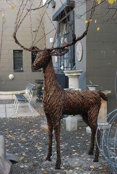 Beautiful grapevine reindeer