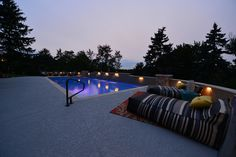 In ground pool in central PA, Goodall Pools & Spas. Camp Hill, In Ground Pools, Spas, Swimming, Patio, Outdoor Decor, Home Decor, Swim, Decoration Home