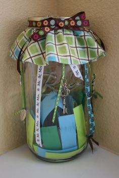the date night jar. great ideas for me or my hubby to keep the dates flowing!