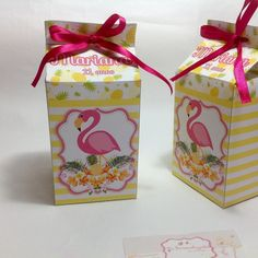 Goodie Bags, Favor Bags, Flamingo Party, Carton Box, Tropical Party, Birthday Decorations, Party Favors, Gift Wrapping, Baby Shower