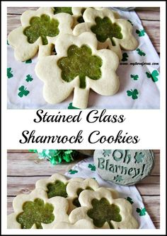 Stained Glass Shamrock Cookies!   http://www.myturnforus.com/2015/03/stained-glass-shamrock-cookies.html