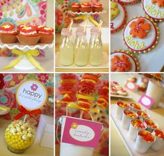 Welcome summer with this adorable Aloha Summer Party! Love the candy kabobs the aloha cookies, the drinks, and the colors!