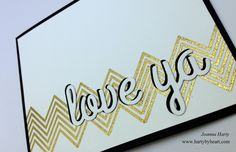Valentine card created by Joanna Harty using CAS-ual Fridays stamps, video over at my blog