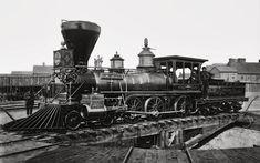 Locomotive Prints   Steam Locomotive Edward M. Stanton 1864 Photograph