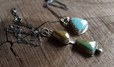 SUNBURST Turquoise Drop Necklace One of a Kind kingman
