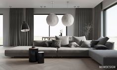 4 Grey Decor Schemes With A Softer Side Living Room Grey, Living Room Modern, Living Room Furniture, Living Room Designs, Living Room Decor, Gray Interior, Home Interior Design, Minimalist Dining Room, Home Decor Kitchen