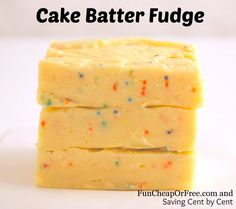 Super easy Cake Batter Fudge #recipe #fudge