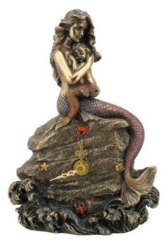 Mermaid Mother & Baby Clock: Mermaid Gifts & Collectibles: FairyGlen.com