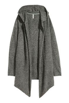 Кардиган с капюшоном - Серый - Женщины | H&M RU 1