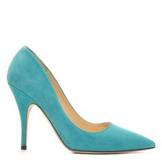"""I really wanted the deeper turquoise BB by Manolo Blahnik, but these are quite nice...Kate Spade Licorice in Turquoise, 4"""" heel, made in Italy"""