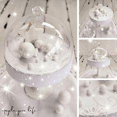 zauberhafte weihnachtsdeko... komplett geupcycelt...