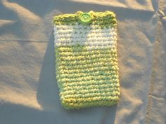 Cell Phone Case  Green and White by Merchant3114 on Etsy, will fit most phones. will stretch