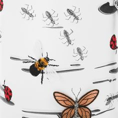 pepfer bag, insects, embroidery, butterflies, ants, gold, fly, ladybug, fashion, summer,