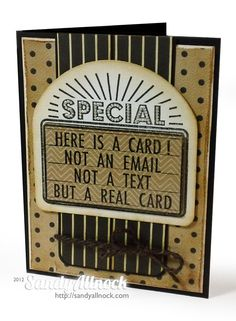 Sandy Allnock - This is a real card