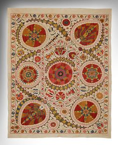 suzani, a type of embroidery done by Uzbek women and given as part of their dowry when they get married.