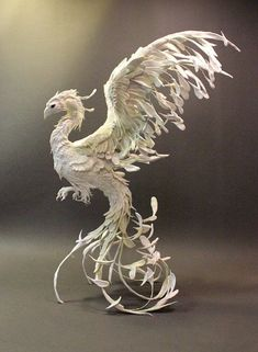 art phoenix bird in sculpture - Google Search