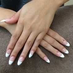 french manicure on oval nails
