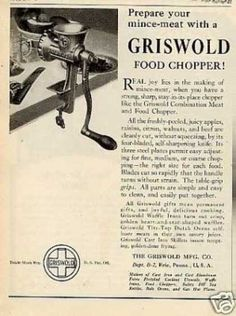 Griswold Cast Iron Food Chopper (1923)