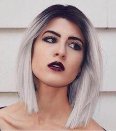 Beautiful Girl with Dark Lipstick