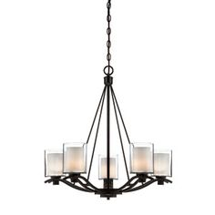 Buy the Artcraft Lighting Oil Rubbed Bronze Direct. Shop for the Artcraft Lighting Oil Rubbed Bronze Andover 5 Light Chandelier - 27 Inches Wide and save. Bronze Chandelier, Chandelier Ceiling Lights, Chandelier Shades, Modern Chandelier, Chandeliers, Chandelier Ideas, Candle Chandelier, Pendant Lights, Verre Design