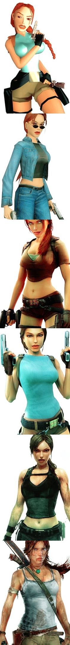 The Evolution of Lara Croft from Tomb Raider