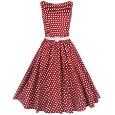 Swing Audrey polkadot red- vintage, 50's, rockabilly, retro jurk