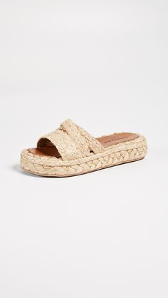 online shopping for Robert Clergerie Idalie Raffia Sandals from top store. See new offer for Robert Clergerie Idalie Raffia Sandals Flat Sandals, Slide Sandals, Sandals 2018, Stylish Sandals, Classic Handbags, Anna Wintour, Designer Sandals, Summer Shoes, Open Toe