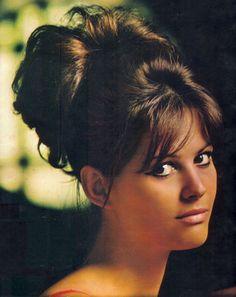 #Hair @jeanettes-hair-obsession Claudia Cardinale, Sophia Loren, Vintage Hairstyles, Bun Hairstyles, Updo Hairstyle, Wedding Hairstyles, Tv Movie, Movies, 60s Hair