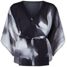 Elie Tahari Rooney Kimono Blouse Black | Harrods (285 CAD) ❤ liked on Polyvore featuring tops, blouses, elie tahari blouse, kimono top, elie tahari, kimono blouse and elie tahari tops