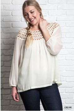 Umgee Braided Top *Plus* - Cream · The Bashful Blossom Boutique · Online Store Powered by Storenvy