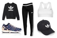 """Adidas sport outfit"" by karppila-julia on Polyvore featuring adidas"