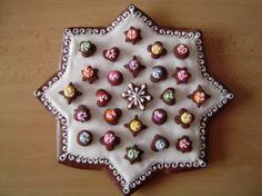 Advent Calendar Star - gingerbread