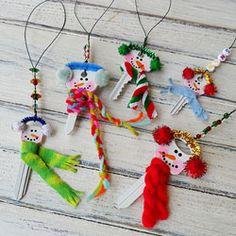 Snowman Ornaments from Keys