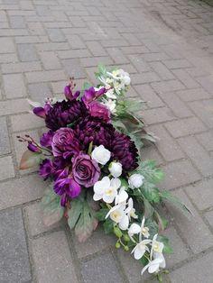 Arte Floral, Casket, Flower Decorations, Funeral, Floral Wreath, Bouquet, Wreaths, Purple, Flowers