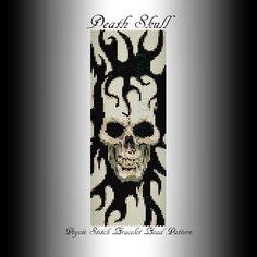 DEATH SKULL -PEYOTE STITCH BRACELET BEAD PATTERN