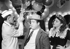 """With Martha Raye in """"Keep 'Em Flying"""" (1941) Martha Raye, Abbott And Costello, Old Things, Crown, Stars, Couple Photos, Couples, Fashion, Couple Shots"""