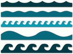 wave borders--------------------I think I'm in love with this shape from the Silhouette Online Store!