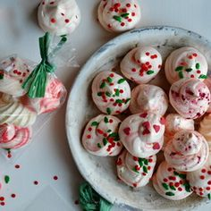 Peppermint Meringue Cookies great for Christmas Goodie Bags